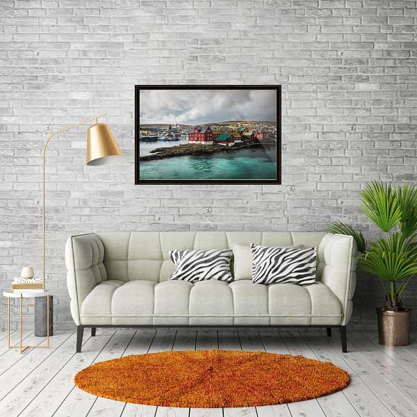 Torshavn, Faroe - File Download for Prints tinganes torshavn mockup frame
