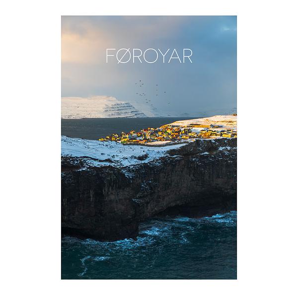 Winter in Nolsoy, Faroe - File Download for Prints NOLSOY mockup3